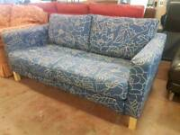 Modern two seater fabric sofa