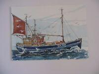 original watercolour of fishing boat LK 149