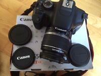 Canon 550D digital SLR with 18-55mm IS lens, battery pack, monopod and lots of extras. DSLR Camera