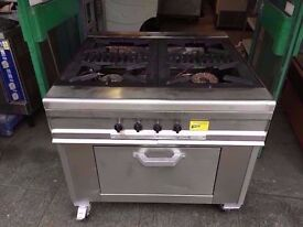 FOUR RING CATERING KITCHEN DINER RESTAURANT COOKER GAS FASTFOOD COMMERCIAL TAKEAWAY OVEN SHOP PUB