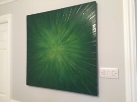 Original artwork by local artist Adam Hart. Boxed canvas 32 inches square. Cost £500