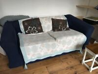 X2 Blue sofas, good condition - free