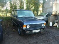 1990 CLASSIC RANGE ROVER 3.9 VOGUE SE FOR RESTORATION, LOW MILES, STRAIGHT BODYWORK