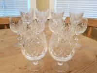 12 Crystal glasses