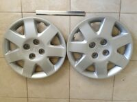 "Honda Civic 15"" Silver Hubcaps - Original Genuine Honda Part (4473-S5D-A110) Brand New X2"