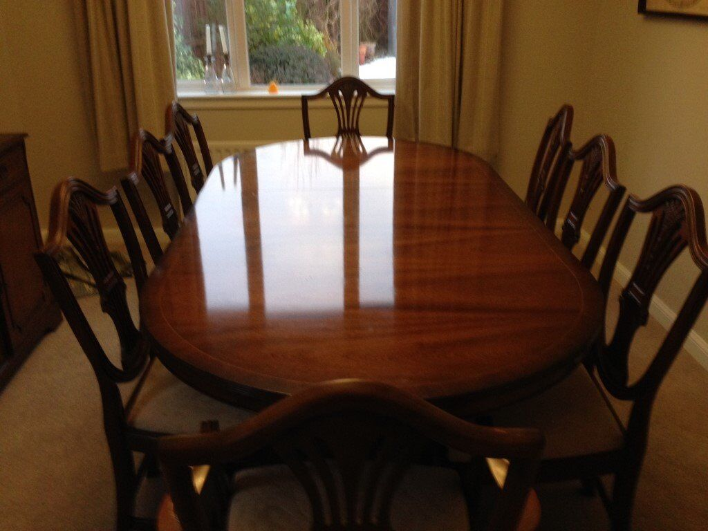 Beautiful Mahogany Dining Table And 8 Chairs In Westhill