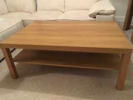 Large Ikea oak effect coffee table, excellent condition