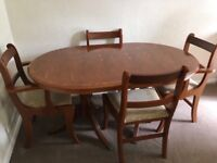 Lovely table and chairs and side board
