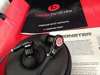 NEW Beats By Dre Tours in ear earphones