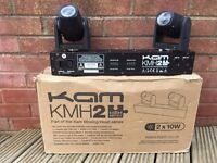 KAM KMH2 Moving Head Cree Quad 10w LED Lights (Boxed)