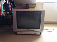 Aiwa television with built in vhs video