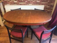 Oval Table and 4 chairs - Recovered - Can Deliver Locally