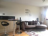 Fully furnished, one bedroom flat, for let in Linlithgow.