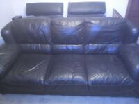 Large comfy leather couch
