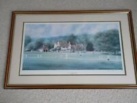 Terry Harrison Signed & Framed Cricket Tilford Print