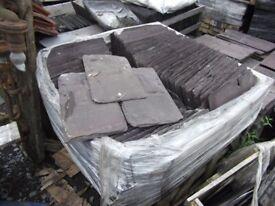 Reclaimed welsh slates , clay tiles floorboards salvage