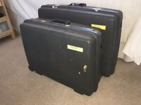 Pair Delsey Super Strong Hard Case Suitcases
