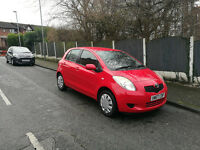 2007 TOYOTA YARIS 1.0 LITRE, 5 DOOR, RED, 2 PREVIOUS OWNERS, SERVICE HISTORY.