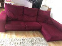 Raspsberry fama corner sofa