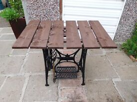 Sewing Machine stand garden table