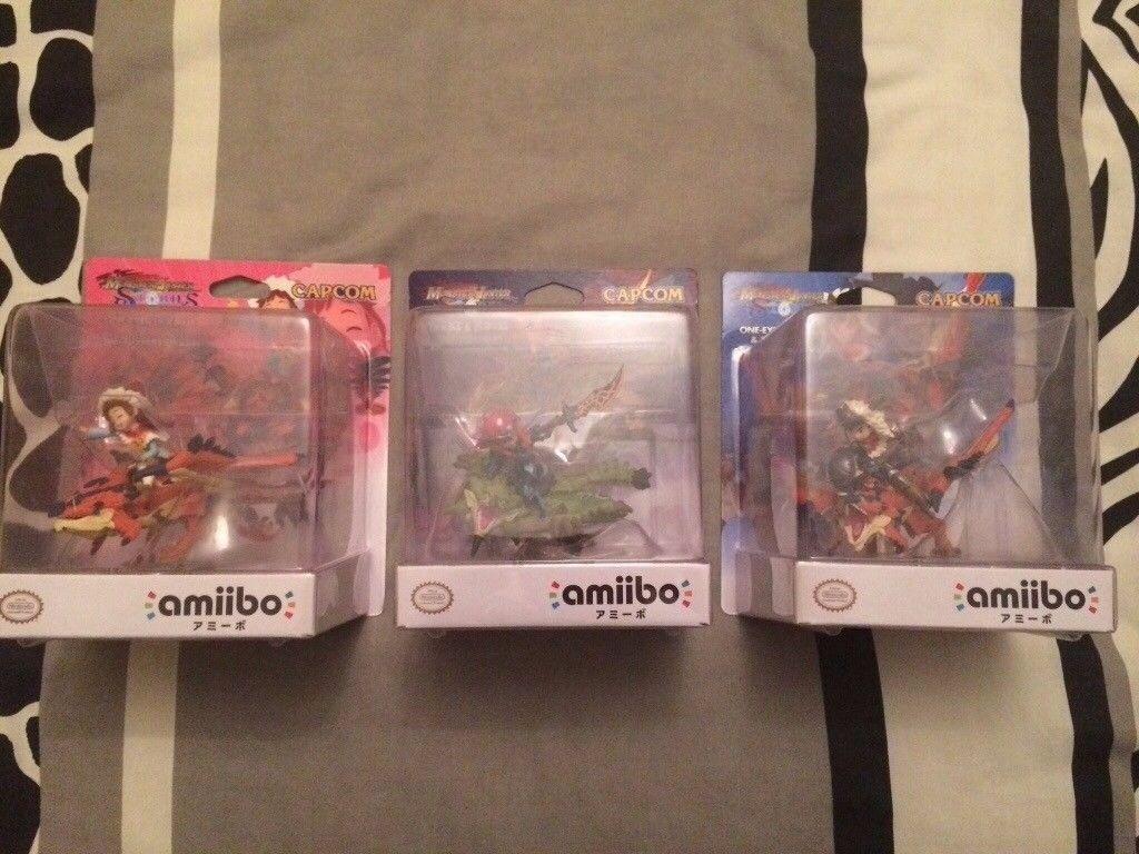 Nintendo Amiibo Collection - 3 rare Amiibo's, Monster Hunter