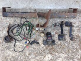 Fiat Panda 2006 Witter Tow bar FT63 parts including wiring and socket.