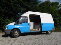 LWB High Top 2001 2.4 Diesel Ford Transit. Converted stealth camper