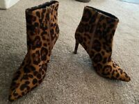 Leopard print size 3 brand new heels