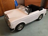 1980's Harrods Triang Sharna Rolls Royce Corniche Childs Pedal Car. Bentley. FREE DELIVERY