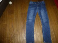 Boys Next adjustable waist skinny jeans good used condition Age 14