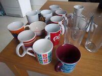 Free collection of kitchenware - mugs, glasses, blender, breadknife