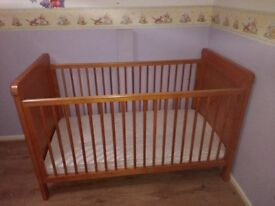 Winnie the Pooh wooden cot.