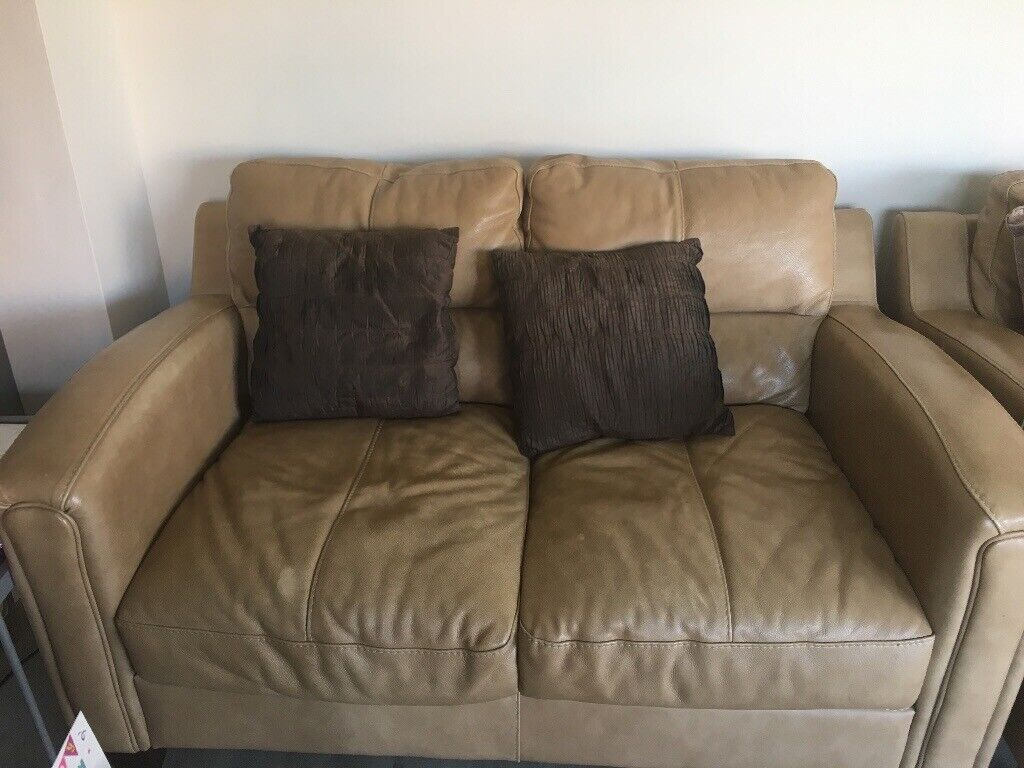 Pleasing 2 Leather Caramel Sofas For Sale Good Condition In Liverpool Merseyside Gumtree Pdpeps Interior Chair Design Pdpepsorg