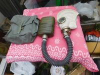 ARMY GAS MASK WITH CANISTER AND BAG PLUS COMBAT JACKET