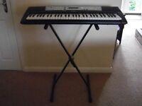 Yamaha YPT-200 Portable Keyboard plus adjustable stand. Only £50.00 o.v.n.o