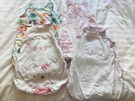 4 x 0-6 month girls grobags