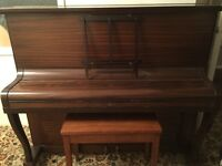 Boyd Upright Piano and Piano Stool