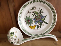 Collection of Portmeirion - ladle and dinner plate