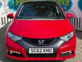 Honda Civic I-Vtec Ex Gt 1.8, 2013, Manual - £66 PER WEEK - CAR IS £9495