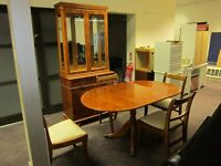 Display Cabinet and Table & Chairs