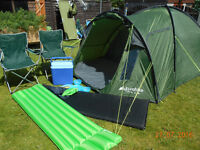 euro hike avon dlx 3 large person tent & extras