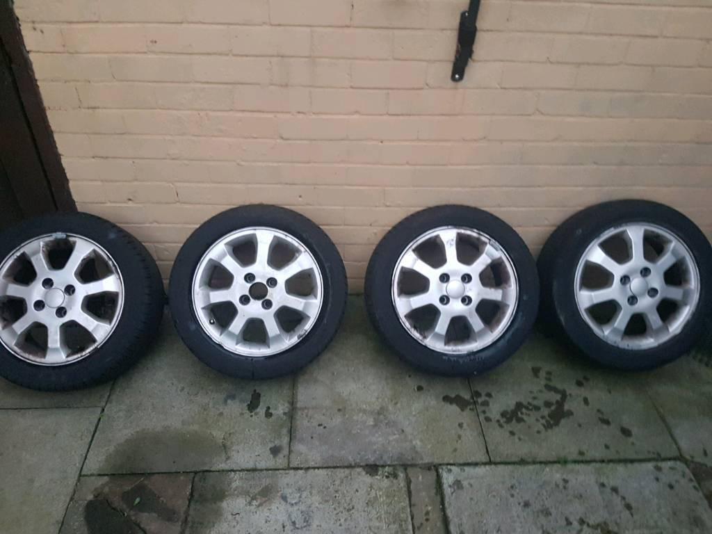 """15"""" alloys with decent tires fits punto"""