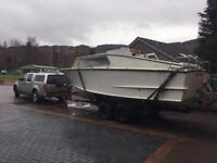 23 ft Cleopatra motor cruiser with 2.3Volvo engine and penta z drive