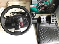 Logitech Driving Force GT PS3/PC Racing wheel with pedals