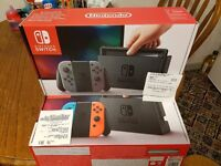 Brand new with receipts nintendo switch all new unopened box with 12 months warranty
