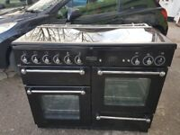 RANGEMASTER 110 110cm FULL GAS RANGE COOKER-BLACK 07951551712/07435853439