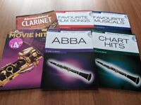 6 beginner clarinet books (4 with play along CDs)