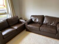 2 brown sofas for free