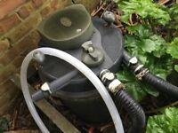 Pond filter unit