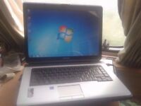 "LAPTOP TOSHIBA DUAL CORE ,WEBCAM, 15.4"".2GB RAM,WIFI WIRELESS.WINDOWS 7/OFFICE,CASE,GOOD BATTERY"